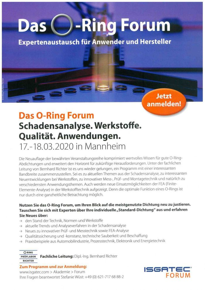 Das O-Ring-Forum - Flyer